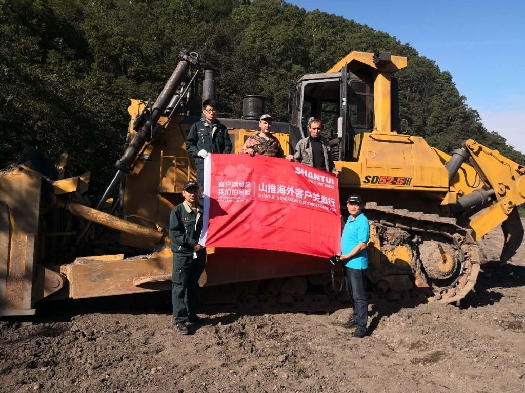 Overseas Customers Care Trip--Shantui Visits Customers of High Hp Bulldozer in Russia